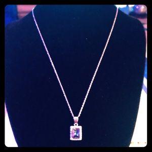 Rainbow Quartz Silver Necklace